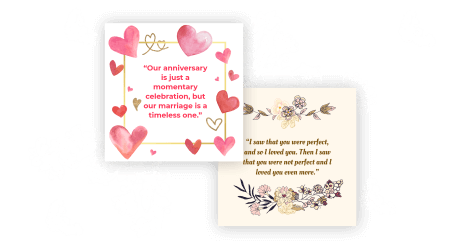 Anniversary quotes maker