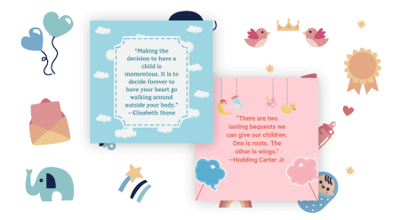 baby-quotes maker