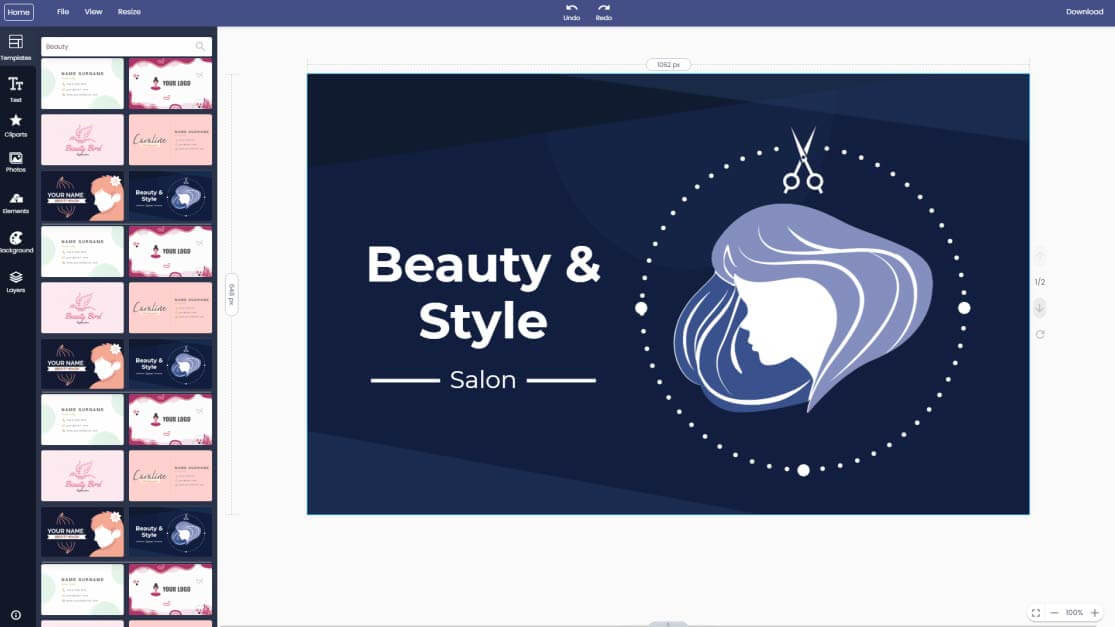 beauty-visiting-business-card