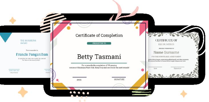 Doographics certificate maker