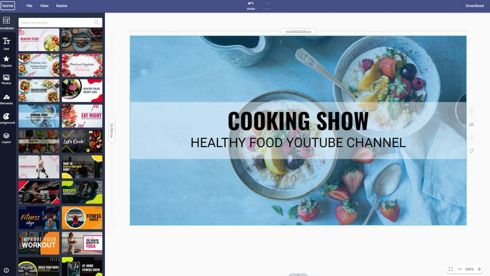 cooking-youtube-channel-art-maker