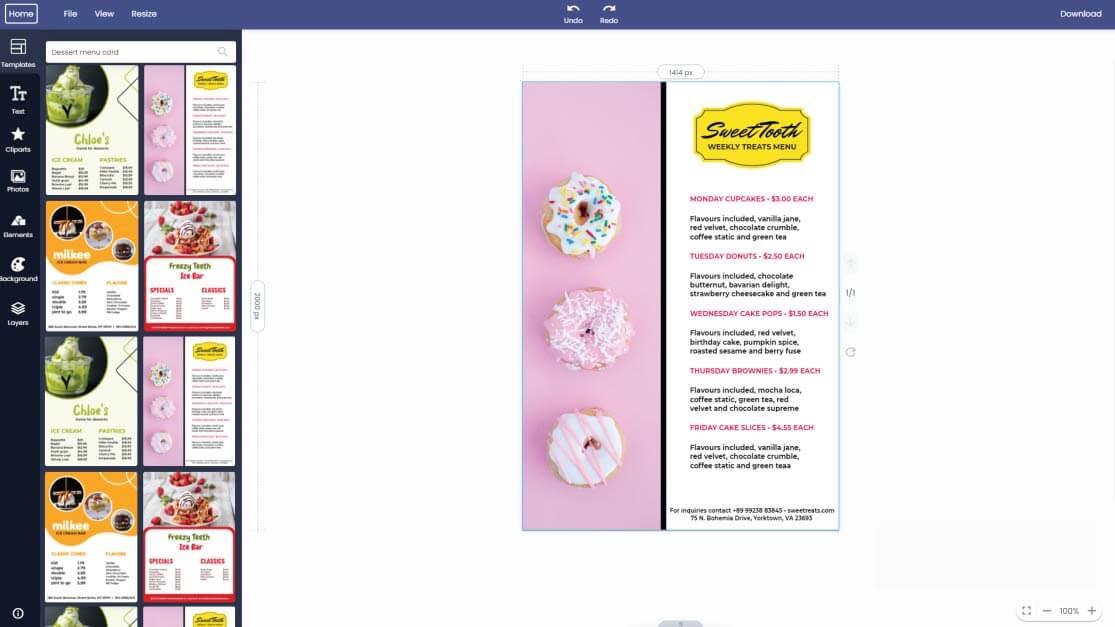 dessert-menu-card