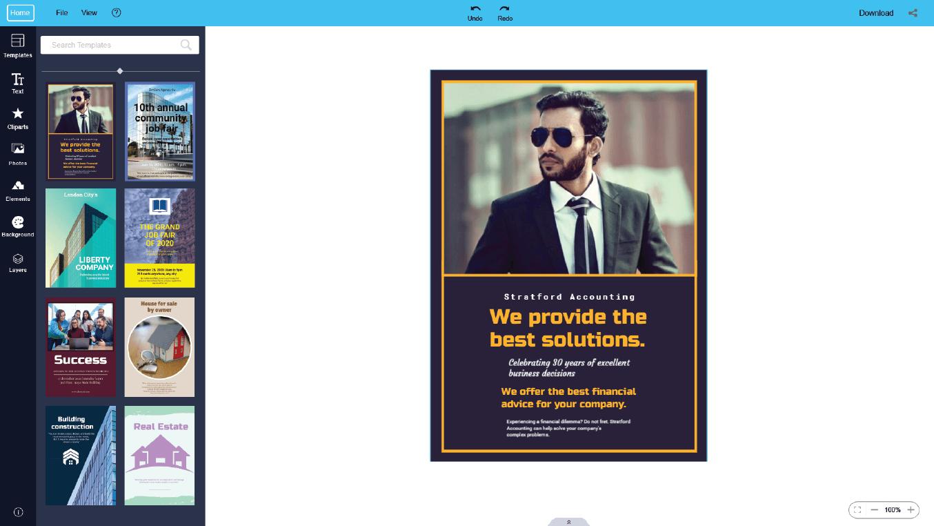 online flyer maker for best solution company
