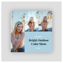 bright outdoor color shots photo collage