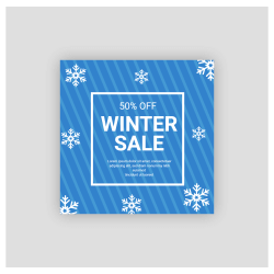 winter sale instagram post maker