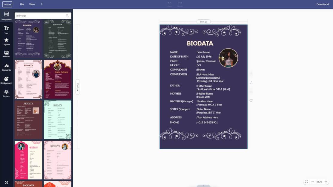 marriage-biodata