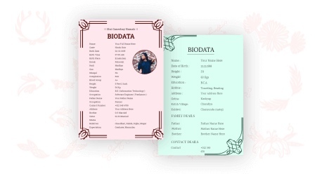 marriage biodata maker