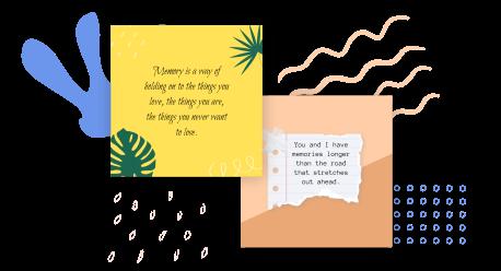 Memories quotes maker