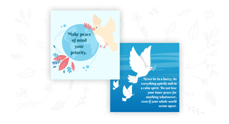 Peace quotes maker