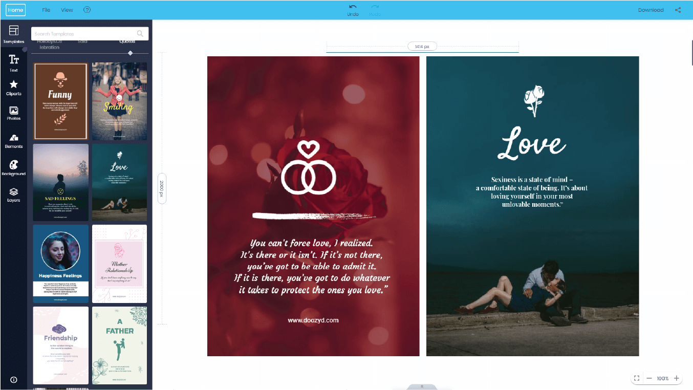 love relationship free poster templates