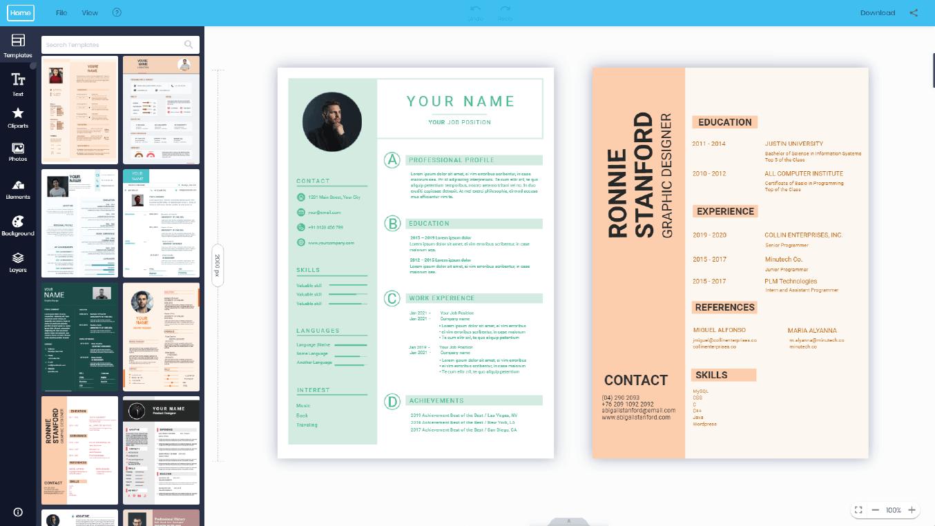cv maker free for graphic designer