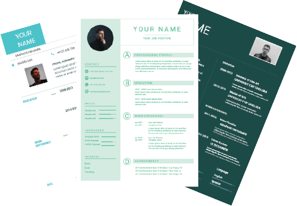 how to design professional resume templates