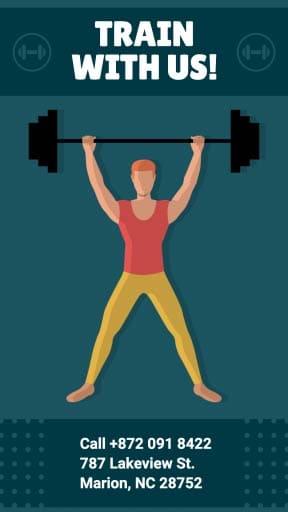 fitness instagram story