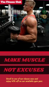 gym Instagram-story maker