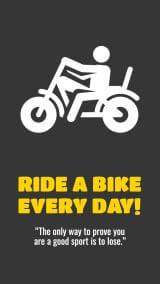 bike Instagram-story maker