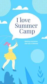 summer-camp Instagram-story maker