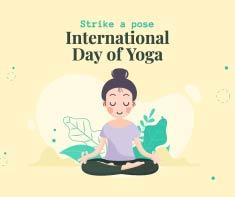 Facebook Post, International Day of Yoga Post