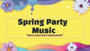 YouTube Thumbnail For Spring Party Music