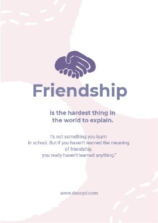 poster maker friendship
