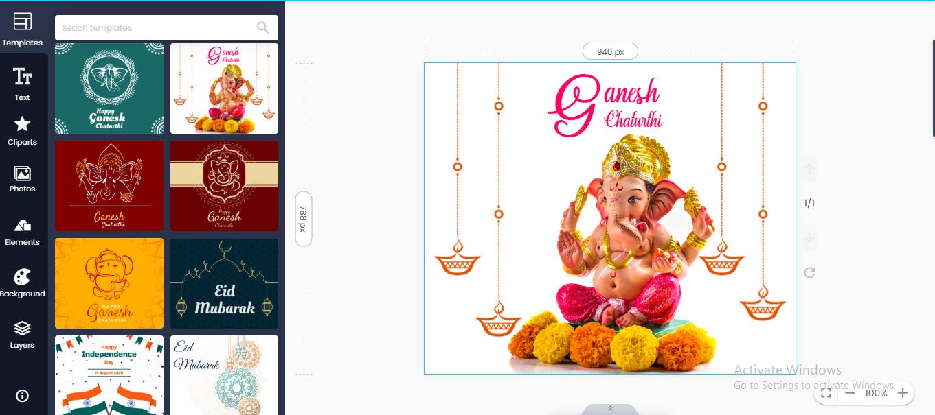 doographics ganesh poster maker